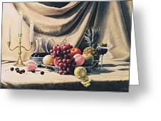 Still Life On A Gold Greeting Card