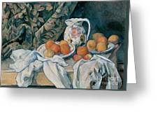 Still Life With A Curtain Greeting Card