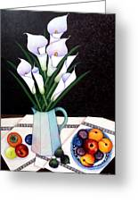 Still Life With Callas Greeting Card