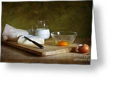 Still Life With Egg Greeting Card