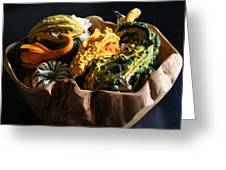 Still Life With Gourds Greeting Card