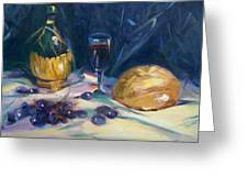 Still Life With Grapes Greeting Card