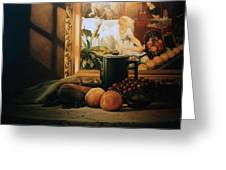 Still Life With Hopper Greeting Card
