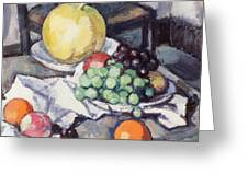 Still Life With Melons And Grapes Greeting Card by Samuel John Peploe