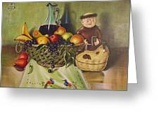 Still Life With Moms Needle Work Greeting Card by Joe Santana