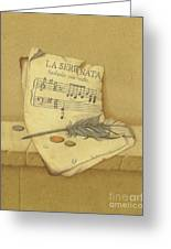 Still Life With Sheet Music Greeting Card