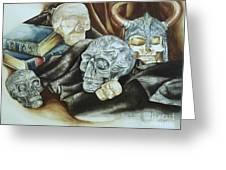 Still Life With Skulls Greeting Card