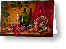 Still Life With Snails Greeting Card