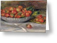Still Life With Strawberries Greeting Card