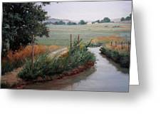 Still Water-irrigation Greeting Card by Victoria  Broyles