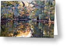 Still Waters - Autumn Reflections Greeting Card