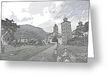 Stockalper Castle Greeting Card