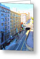 Stockton Street Tunnel In Heavy Shadow Greeting Card