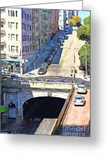Stockton Street Tunnel Midday Late Summer In San Francisco Greeting Card