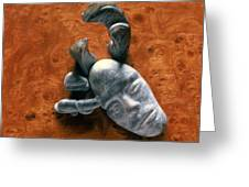 Stone Aged Spirit Greeting Card by Charles Dancik