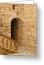 Stone Arch And Stairway Greeting Card