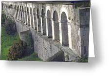 Stone Arches And Shadows Greeting Card
