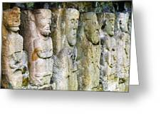 Stone Carving Figures Greeting Card