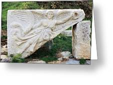 Stone Carving Of Nike Greeting Card