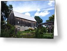 Stone Cottage Barn Greeting Card