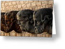 Stone Faces Greeting Card