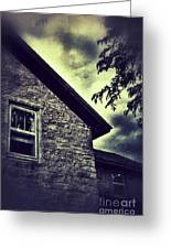 Stone House In Storm Greeting Card