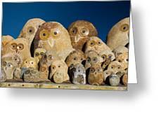 Stone Owls Greeting Card