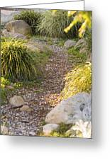 Stone Path Through Garden Greeting Card by James Forte