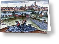 Stone Quarry, Historical Artwork Greeting Card