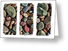 Stone Triptych 3 Greeting Card