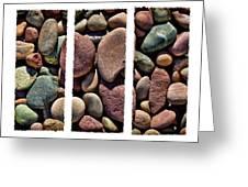 Stone Triptych Greeting Card