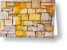 Stone Wall Greeting Card by Carlos Caetano