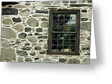 Stone Wall With A Window Greeting Card