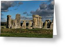 Stonehenge Greeting Card by Heather Applegate