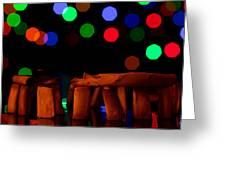 Stonehenge In Starry Night Greeting Card