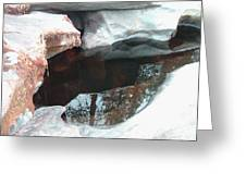 Stones And Water Greeting Card by Naxart Studio
