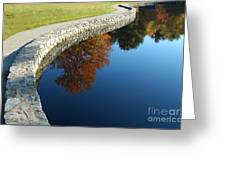 Stonewall And Autumn Reflections Greeting Card