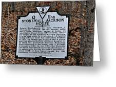 Stonewall Jackson House Greeting Card by Todd Hostetter