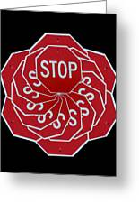 Stop Sign Kalidescope Greeting Card