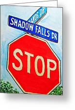 Stop Sign Sketchbook Project Down My Street Greeting Card by Irina Sztukowski