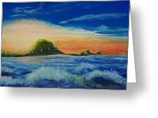 Storm At Low Sun Greeting Card by Peter Jackson