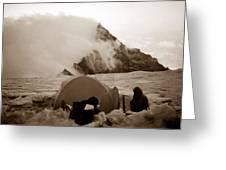 Storm Camp Greeting Card