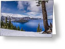 Storm Clearing At Crater Lake Greeting Card