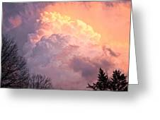 Storm Cloud Moving In On West Michigan Greeting Card