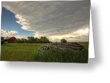 Storm Clouds Gather Over An Abandoned Greeting Card