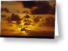 Storm Clouds Over A Vast Tropical Ocean Greeting Card by Jason Edwards