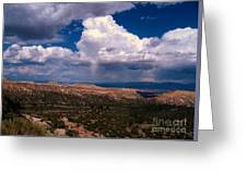 Storm Clouds Over Bandalier National Monument Greeting Card by Donna Parlow
