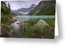 Storm Clouds Over Chephren Lake, Banff Greeting Card