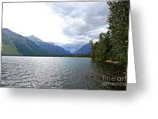 Storm Clouds Over Lake Mcdonald Greeting Card