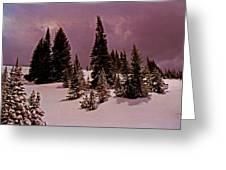 Storm Clouds Over The Monte Cristo Summit Greeting Card